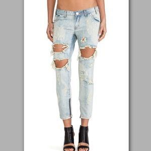 One Teaspoon Trashed Free Birds destroyed jeans